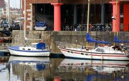 Muelle histórico del St. Albert, Liverpool Imagenes de archivo