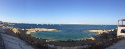 Muelle Hurghada del panorama Imagen de archivo libre de regalías