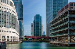 Muelle medio, Canary Wharf foto de archivo libre de regalías