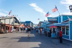 Muelle Monterey de Fishermans Imágenes de archivo libres de regalías