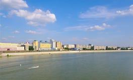 Muelle. Omsk.Russia de Irtysh de la visión. Fotografía de archivo libre de regalías