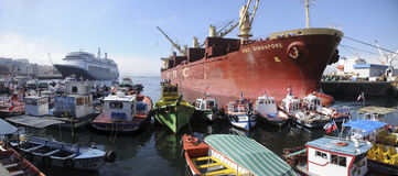 Muelle Prat, Valparaiso Fotos de Stock