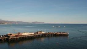 Muelle Santa Barbara California de Stearns almacen de metraje de vídeo