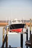 Muelle seco del barco Fotografía de archivo libre de regalías
