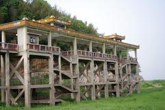 Muelle sin el agua en el lago Dongting Fotografía de archivo libre de regalías