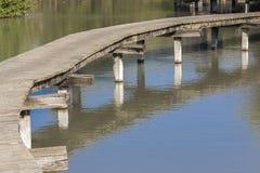 Muelle sobre el agua Imagenes de archivo