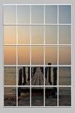 Muelle a través de la ventana Fotografía de archivo libre de regalías