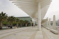 Muelle Uno promenade in Malaga Spain Royalty Free Stock Photo