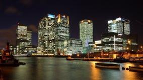 Muelle y Canary Wharf del sur, Londres Fotos de archivo