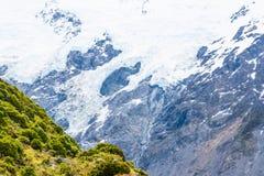 Mueller glaciär, Mt-kock National Park Arkivbild