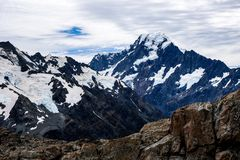 Mueller hut, Mount Cook, New Zealand royalty free stock photos