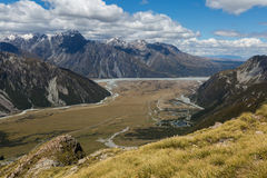 Mueller Hut Route New Zealand Stock Image
