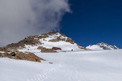 Mueller Hut on the Sealy Range near Mount Cook Stock Images