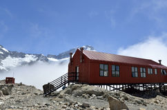 Mueller Hut in Southern Alps in NZ. Royalty Free Stock Images