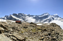 Mueller Hut in Southern Alps in NZ. Royalty Free Stock Photography