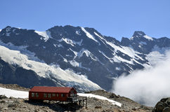 Mueller Hut in Southern Alps in NZ. Royalty Free Stock Photos