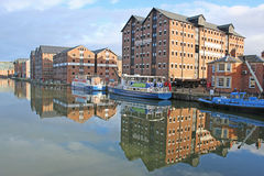 Muelles de Gloucester fotos de archivo libres de regalías
