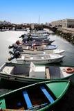 Muelles de la pesca Fotos de archivo libres de regalías