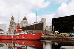 Muelles de Liverpool Imagen de archivo libre de regalías