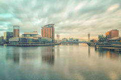 Muelles de Salford, Manchester imagen de archivo libre de regalías