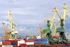 Muelles de St Petersburg Foto de archivo libre de regalías