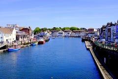 Muelles de Weymouth, Dorset, Reino Unido Fotografía de archivo