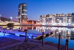 Muelles del canal magnífico Foto de archivo libre de regalías