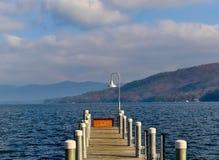 Muelles del lago George Fotos de archivo