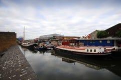 Muelles viejos en Londres Fotografía de archivo libre de regalías