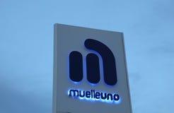 Muelleuno in Malaga, Spanje stock foto