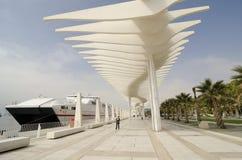 Muelleuno promenade in Malaga Spanje royalty-vrije stock fotografie