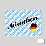 Muenchen. Munich hand drawn lettering. Vector lettering illustration. Template for Traditional German Oktoberfest bier. Muenchen. Munich in German hand drawn Royalty Free Stock Photos