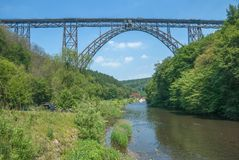 Muengstener Bruecke,Wupper River,Solingen,Germany Stock Photo