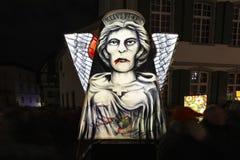 Basel carnival 2019 lantern exhibition stock image