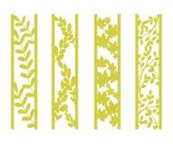 Muera y el laser cortó los paneles ornamentales con el estampado de flores Gzhel, margaritas, hibisco, flores de las rosas y hoja ilustración del vector