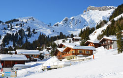 Muerren, Swiss skiing resort Royalty Free Stock Images