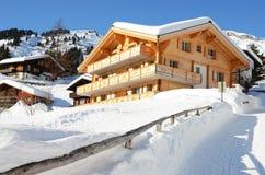 Muerren, Zwitserse het ski?en toevlucht royalty-vrije stock fotografie