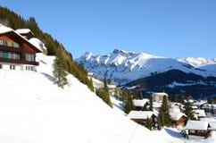 Muerren, Zwitserse het ski?en toevlucht Stock Fotografie