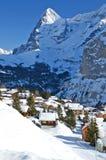 Muerren, Zwitserse het ski?en toevlucht Stock Afbeelding
