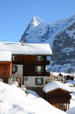 Muerren, Zwitserse toevlucht Stock Afbeelding