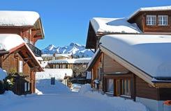 Muerren, Zwitserse toevlucht Stock Fotografie