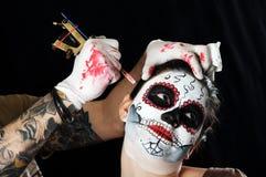 muerte圣诞老人 Los Muertos 免版税库存照片