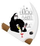 Muerte de la bebida del alcohol de la barra Fotos de archivo libres de regalías