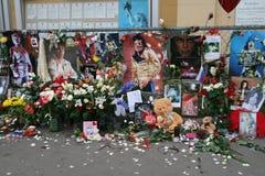 Muerte de Michael Jackson. Reacción de los ventiladores de Moscú Imagen de archivo libre de regalías