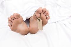 Muerte del pie Imagenes de archivo