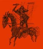 Muerte del samurai (vector) ilustración del vector