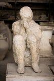 Muerte en Pompeii Imagen de archivo libre de regalías