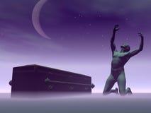 Muerte que causa la desesperación - 3D rinden stock de ilustración