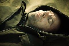 Muerte sin hogar foto de archivo libre de regalías