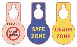 Muerte y zona segura Imagen de archivo libre de regalías